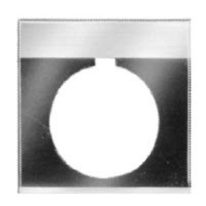 GE CR104PXN6E Nameplate, 30mm, Yellow, Metal, BLANK, Round