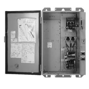 GE CR340E3X4FZ149 Pump Panel, Size 3, Nema 3R, 3PH, Breaker Disconnect, 480 VAC Coil