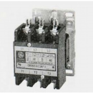 GE CR353AC4CA1 Contactor, Definite Purpose, 30A, 4P, 120VAC Coil