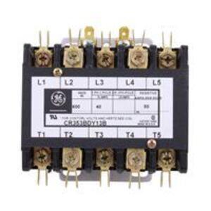 GE CR353BDY13B Contactor, Definite Purpose, 50A, 5P, 208-240VAC Coil