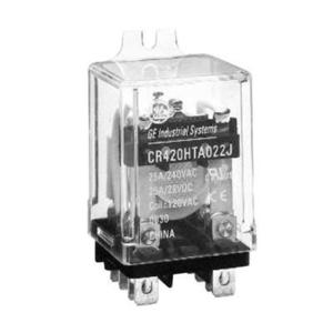 GE CR420HPC022J Relay, Ice Cube, 11 Blade, 2PDT, 25A, 120VAC Coil, 240VAC Rated