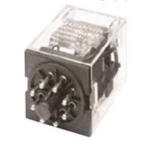 GE CR420KPC022C Relay, 8-Pin, 2PDT, 24VAC Coil, Type K, LED Option