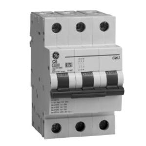 GE EP103ULC20 Breaker, Miniature, 3P, 20A, 120/240VAC, 10kAIC, DIN Rail Mount
