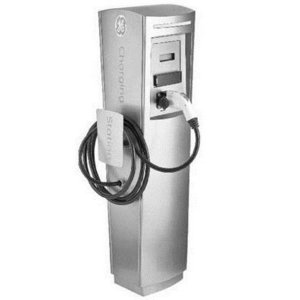 GE EVSN3 Electric Vehicle Charging Station, Single Pedestal, 30A, 208-240VAC