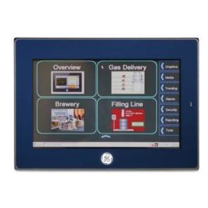 "GE IC755CBW07CDA Operator Interface, QuickPanel+, 7"" Color, TFT, 24VDC, Capacitive"