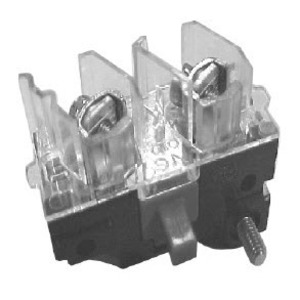 GE P9B20VN Pilot Device, Contact Block, 2NO, Screw Terminal, 22.5mm, Front