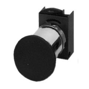GE P9CEM4NN Push Button, 22.5mm, Mushroom, 40mm, Black, Momentary, Operator