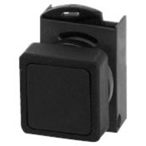 GE P9CPNNG Push Button, 22.5mm, Black, Flush Head, Chrome, Operator Only