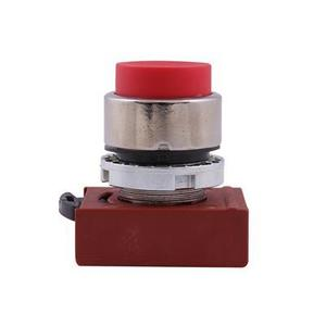 GE P9CPNRS Push Button, 22.5mm, Red, Extended Head, Chrome, Operator Only