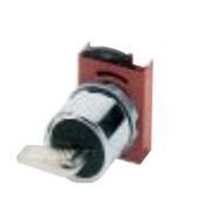 GE P9CSCD5A95 Selector Switch, Keyed, 2 Position, Left Removal, Momentary Right