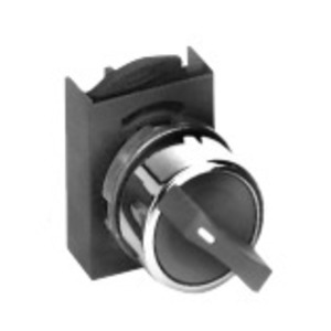 GE P9CSMZ3N Selector Switch, 3 Position, Chrome, Momentary, Cam Z, 22.5mm