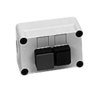 GE P9EPE03 Pilot Device, Enclosure, 3 Hole, Polycarbonate, Gray, NEMA 1 - 13
