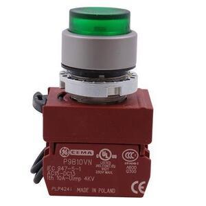 GE P9MPLVSDN12NCDL Indicating Light, Push to Test, White, LED, 24V AC/DC, Operator Only