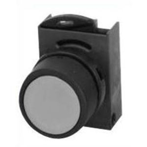 GE P9XPNNG Push Button, Flush Black Head, 22.5mm, Operator Only, Plastic