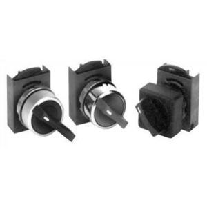 GE P9XSMZ3N Selector Switch, 3 Position, Black Knob, Left/Right Removal