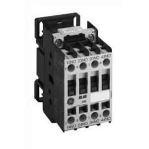 GE RL4RD040TD Relay, DC Control, 4P, 24VDC, Coil, 4NO, Standard Terminals