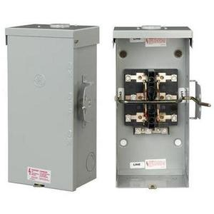GE TC10324R Safety Switch, Double Throw, Non-Fused, 200A, 240VAC, NEMA 3R