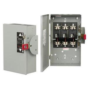 GE TC35362 Safety Switch, Double Throw, Non-Fused, 60A, 600VAC, NEMA 1