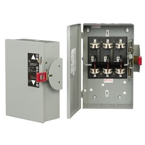 GE TC35362R Safety Switch, Double Throw, Non-Fused, 60A, 600VAC, NEMA 3R