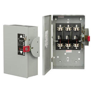 GE TC35363R Safety Switch, Double Throw, Non-Fused, 100A, 600VAC, NEMA 3R
