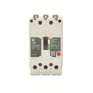 GE TEYD3015B Breaker, Molded Case, 15A, 3P, 277/480VAC, 25kAIC, Load Lugs