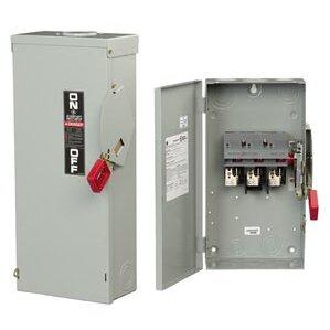 GE TH3222J Disconnect Switch, 60A, 240VAC, 250VDC, 2P, Fusible, NEMA 5/12