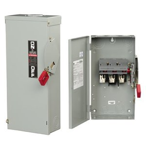 GE TH6661 Safety Switch, Fused, 30A, 6P, 600VAC, NEMA 1/3R/5/12