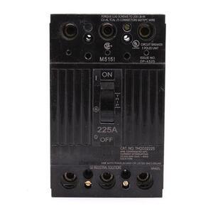 GE THQD32225WL Breaker, 225A, 3P, 240V, Q-Line, 22 kAIC, Lug In/Lug Out, w/Lugs