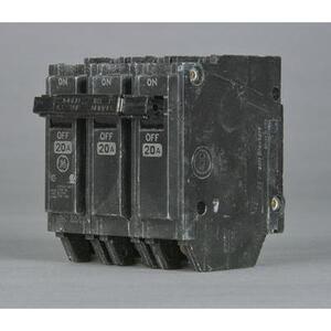 GE THQL32035 Breaker, 35A, 3P, 120/240V, 10 kAIC, Q-Line Series