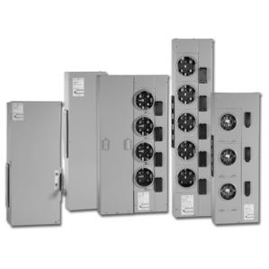 GE TMPR12222R Meter Stack Module, 1200A, 2 x 225A Socket, 1PH, Ringless, NEMA 3R