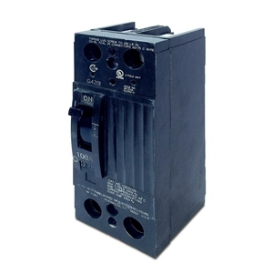 GE TQD22100X2 Breaker, 100A, 240VAC, 2P, Load Lugs Only, Molded Case, 10 kAIC