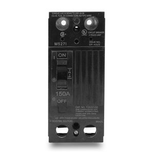 GE TQD22150LL Breaker, Molded Case, 150A, 2P, 120/240VAC, 10kAIC, Less Lugs