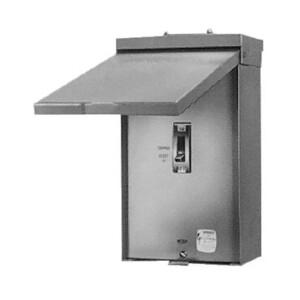 GE TQL100R Circuit Breaker Enclosure, NEMA 3R, 100A, Q-Line Frame, Surface Mount