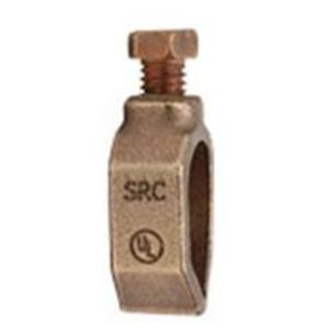 """Galvan SRC Ground Rod Clamp, Universal, 1/2"""" to 3/4"""" Rod, 10 to 1/0 AWG"""