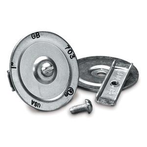 """Gardner Bender KO701 Three-Piece Knockout Seal, 1/2"""", Steel"""
