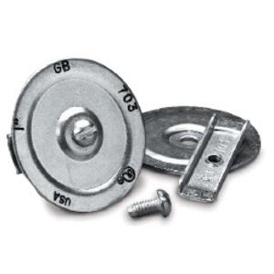 """Gardner Bender KO705 Three-Piece Knockout Seal, 1-1/2"""", Steel"""