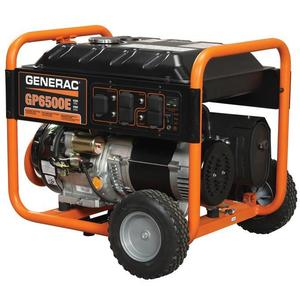 Generac 5941 Generator, 6.5kW, Portable, Electric/Manual Start, Gasoline