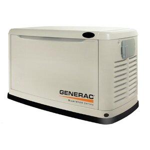 Generac 6439 Generator, Standby, 11kW, Air Cooled, 120/240VAC, Natural Gas, LPG