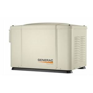 Generac 6998 Generator, Standby, 7.5kW, 240VAC, 50A, 8 Circuit Transfer Switch