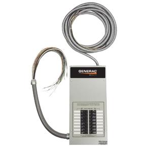 Generac RTG10EZA1 Generator, Automatic Transfer Switch, Load Center, 50A, 10 Circuit
