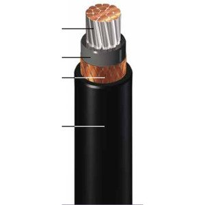 General Cable 279330 Flexible Power Cable, 535 AWG, Armored & Sheathed, 2kv/1000V