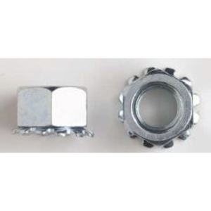 """Gexpro Services 3/8-16FGNTFFSSPASE Serrated Flange Nut, 3/8"""", Stainless Steel"""