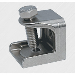 "Gibson Stainless & Specialty 2001 Beam Clamp, Size: 1/4"", Thread: 5/16-18, Stainless Steel"