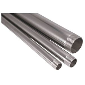 "Gibson Stainless & Specialty CND100 Type 304 Stainless Steel Rigid Conduit, 1"", w/ Coupling, 10'"