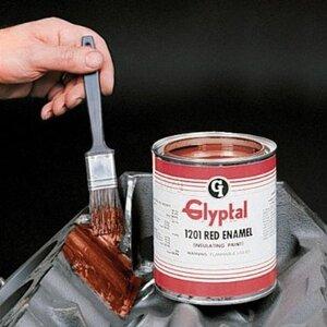 Glyptal 1201B-QT Acrylic Enamel Brush-On Paint, 1 Quart Can, Red