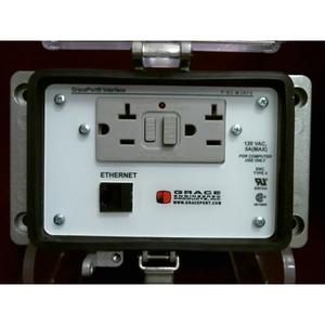 Grace Engineered Products P-R2-M3RF0 Programming Port, Cat 5e Ethernet, GFCI, 15A, 120VAC, Type 4-IP65