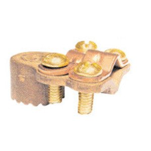 """Greaves G3BS Ground Clamp, Water Pipe: 1-1/4 - 2"""", Max Wire Size: 4/0 AWG, Brass"""