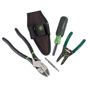 Greenlee 0159-27 4-Piece Electrician Tool Kit
