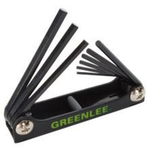 Greenlee 0254-11 9-Piece Folding Hex Key Set