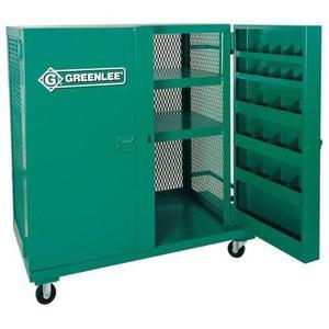 "Greenlee 5060MESH Mobile Mesh Cabinet -  HxWxD: 52"" x 48"" x 28"""
